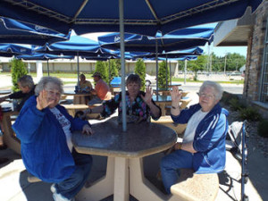 St Monica's residents on a dining out excursion.