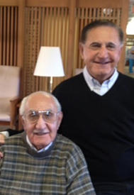 Image of Dr. Mikaelian and his brother, a resident of St. Monica's.