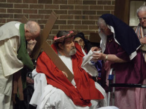 Performance of The Passion Play at St Monica's