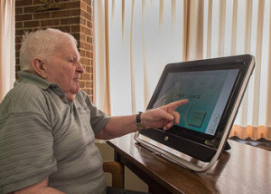 St. Monica resident using Dakim Systems.